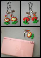 Fire Flower Charms by pookat