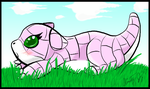 Baby Sandshrew by affy-hedgefoxbat