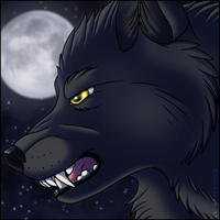 Shadow Wolf - Animated Icon by bladebandit