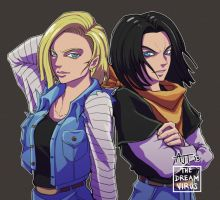DBZ- Android 17 and 18 by TheDreamVirus