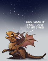 Baby Dragon's Dream - Draco by AbelPhee