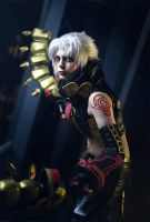 Haseo Cosplay: Feel the pain! by YamiNoShadow