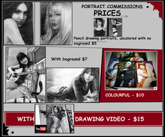 Portrait commissions prices by GenKey