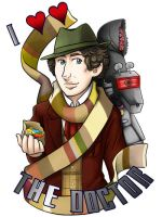4th Doctor Badge by ScuttlebuttInk