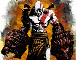 Kratos - Fists of Fury by LRitchieART