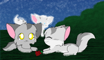 Graystripe and Millie by Kurai-PhantomX