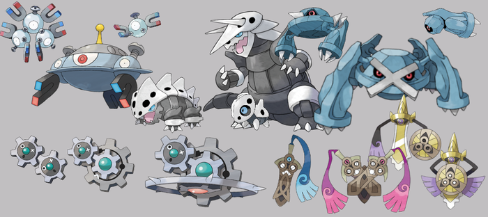 Pokemon: 3-Stage Families - Steel Types by quintonshark8713