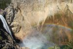 Yellowstone Falls and Rainbow by alicealicenightfever