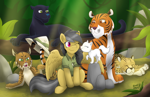 Daring Do and the Jungle of Cats by bravelyart