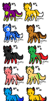 Kitty/Fox Adoptables!! by AndySquid