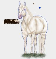 Cremello QH WIP2 by BreakableHorseRider