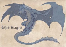 Blue Dragon by etrii