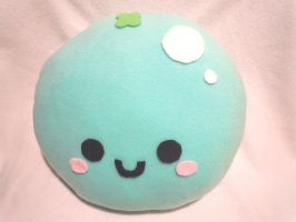 Blueberry Plush Pillow by SugarJerseyJones