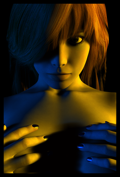 Blue and Yellow by kachi