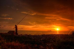 Sunset view of PDL, Penang by fighteden