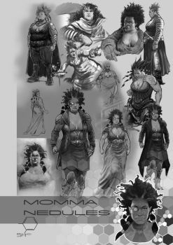 SH Concept Art: Momma Nedules by TheInkPages