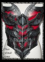 Chaos female armor torso front view by Deakath