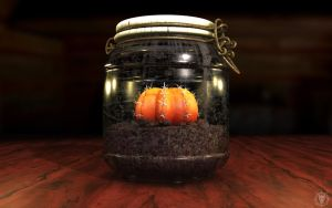Moon Cactus in a Jar by MacBurrito