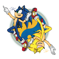 Sonic and Super- Yin and Yang by Feniiku