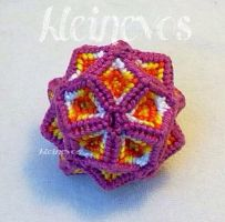 Icosahedron, knotted by Kleinevos70