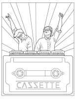 Cazzette Coloring Book by pjperez