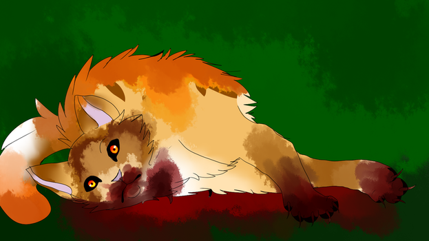 Mapleshade's death by Sandfire000