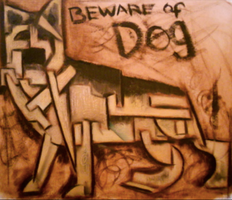 Beware of dog painting by TOMMERVIK