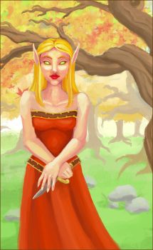 Blood Elf by zombiesoup