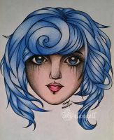 Sugar girl with blue hair by Melangell-Welt