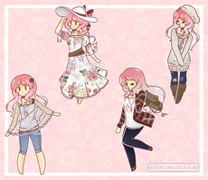 Rose Outfites by KodaConstellation