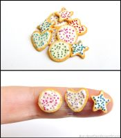Polymer Clay Iced Cookie Cutter Cookies by Bon-AppetEats