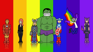 Rainbow Avengers by Zimroid