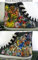 Nintendo Converse Shoes by SupaSmashSketcher