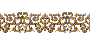 Golden Border Pattern by Yagellonica