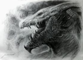 Charcoal Dragon Head by Manzanedo