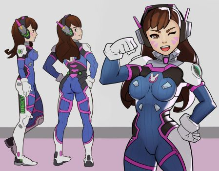 Overwatch, D.Va by SplashBrush
