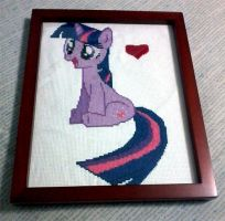 Twilight Sparkle Wall Art Commission by cosplay-kitty