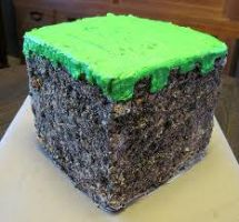 Minecraft Cake by NotchArt
