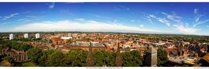 View From Chester Cathedral Tower (Looking East) by GarethGWR