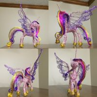 Princess Cadance wire sculpture  by shottsy85