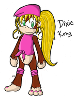 Dixie Kong by TriforceTetra