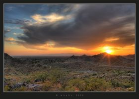 West Phoenix Sunset by HogRider