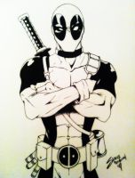 Deadpool by beezasaurus