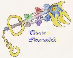 .:KeyBlade:.Seven Emeralds by Super-Sonic-101
