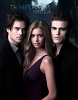 damon elena and stefan by vampireglam