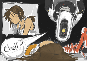 Quick Comic - Portal 2 - Chell? by SuperGhostDuck01