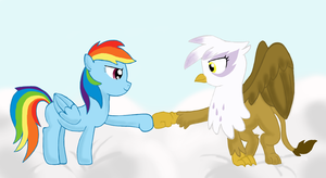 gilda and rainbow dash by beutelwolf