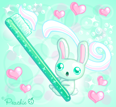 Minty Fresh Rabbit by Princess-Peachie