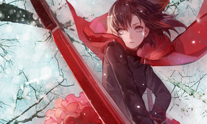[Crescent Rose] Ruby Rose - RWBY by UnkawaiiGFX