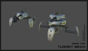 Turret Mech by 152mm